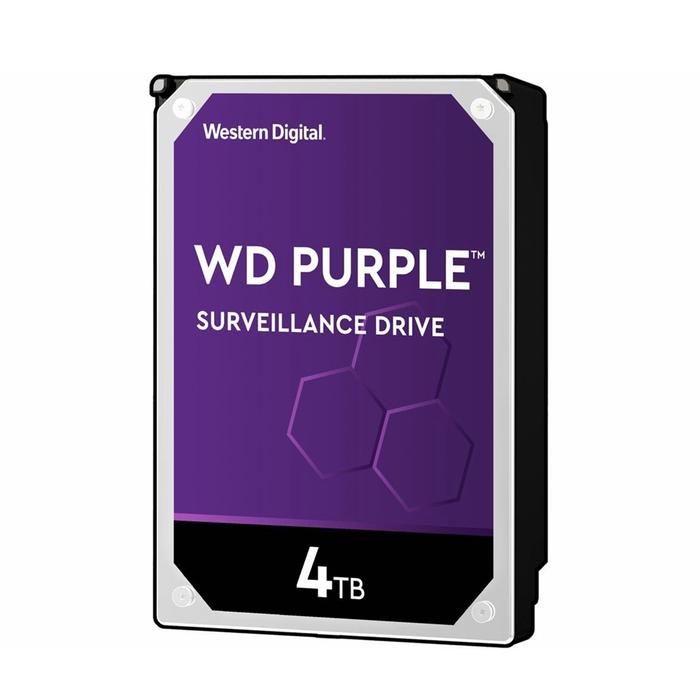 "WD Purple 4TB HDD Surveillance Hard Disk Drive Western Digital 5400RPM 3.5"" SATA 6Gb/s 64MB Cache"