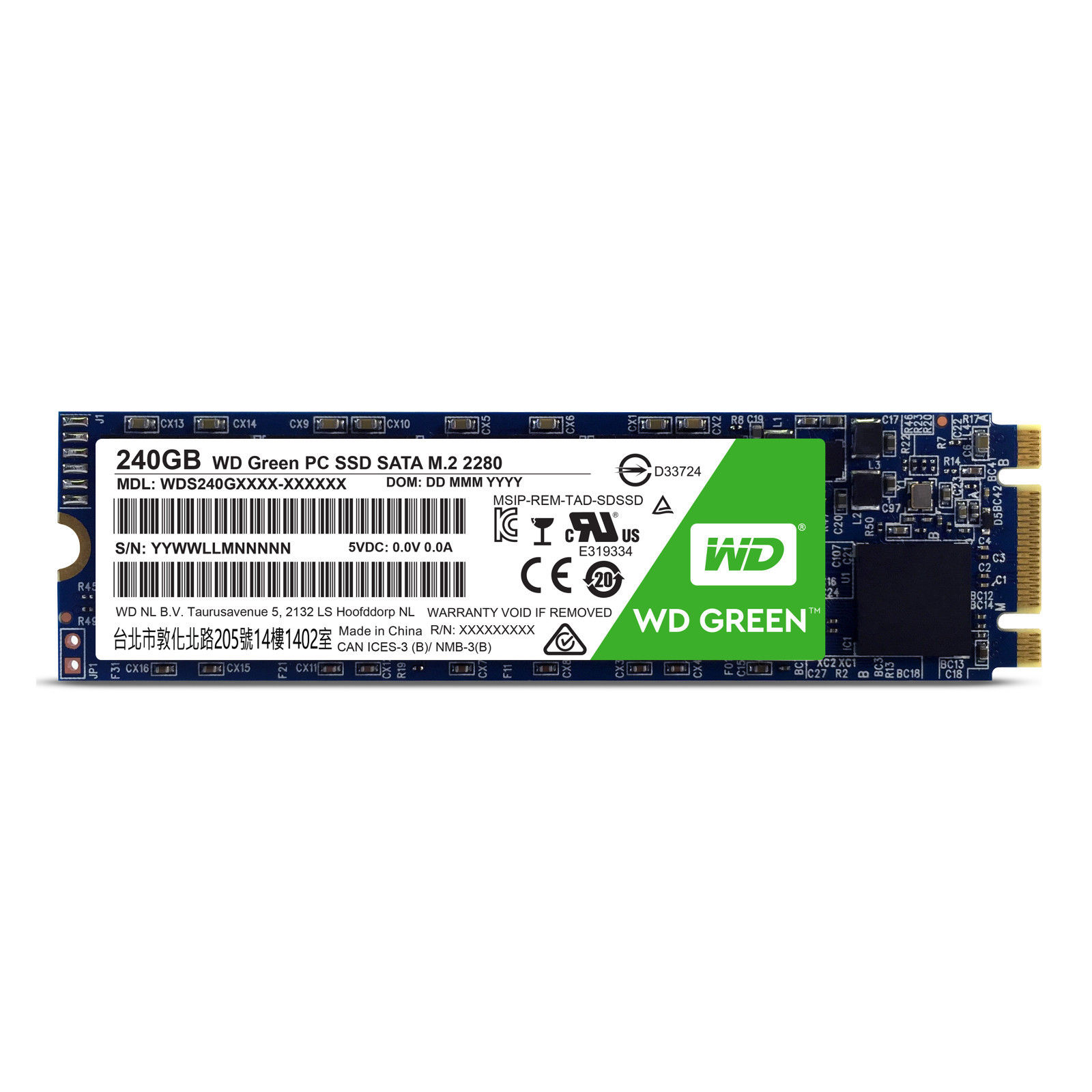 WD Green SSD 240GB Western Digital Internal Solid State Drive Laptop M.2 SATA III 545MB/s
