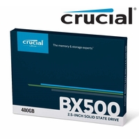 "Crucial SSD 480GB BX500 Internal Solid State Drive Laptop 2.5"" SATA III 540MB/s"