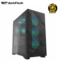 PC CASE DARKFLASH DLX21 MESH  E-ATX/ATX/Micro ATX/Mini ATX   BLACK Type-C Computer Case