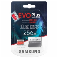 Samsung Evo Plus 256GB Micro SD Card SDXC UHS-I 100MB/s U3 4K Mobile Phone TF Memory Card