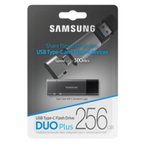 USB 3.1 256GB Flash Drive Samsung Type-C to Type-A Memory Stick Duo Plus (200MB/s) | MUF-256DB