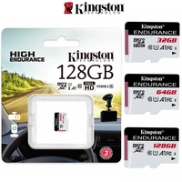 Micro SD Kingston High-Endurance 32GB 64GB 128GB for Mobile Phone Security Body and Dash Cams