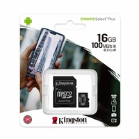 Kingston Canvas Select Plus 16GB Micro SD Card SDHC UHS-I Mobile Phone TF Memory Card 100MB/s