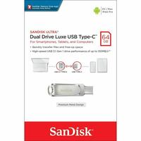 Type-C USB SanDisk Ultra Luxe 64GB Dual Drive Type-C Flash Drive Memory Stick 150MB/s | SDDDC4
