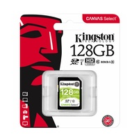 Kingston Canvas Select 128GB SD Card Class 10 SDXC UHS-I Camera HD Video Memory Card 80MB/s