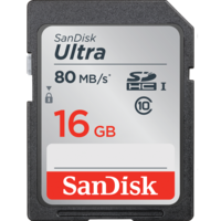 SanDisk Ultra 16GB SD Card SDHC UHS-I 80MB/s Camera DSLR Memory Card SDSDUNC-016G