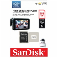 SanDisk 256GB High Endurance Micro SD Card SDXC UHS-I Dash Camera Surveillance Body Cam TF Memory Card