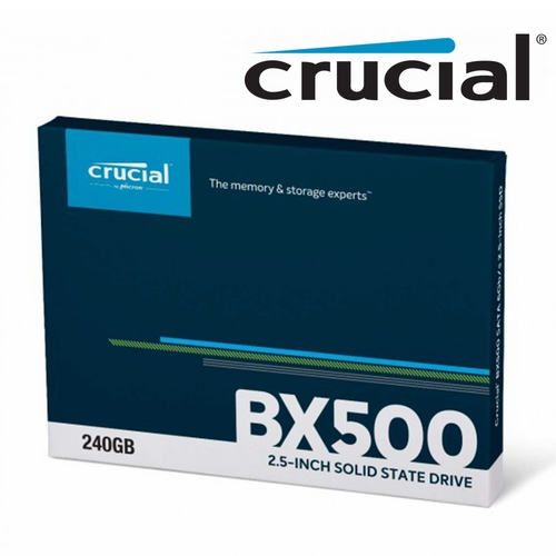 "Crucial SSD 240GB BX500 Internal Solid State Drive Laptop 2.5"" SATA III 540MB/s"
