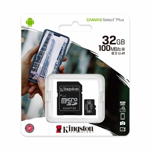 Kingston Canvas Select Plus 32GB Micro SD Card SDHC UHS-I Mobile Phone TF Memory Card 100Mb/s New